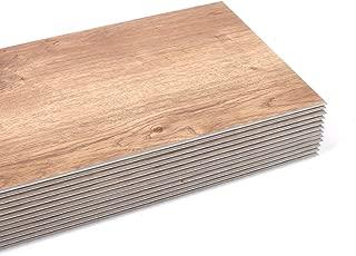 Nisorpa Vinyl Tiles 12 Pack SPC Flooring Planks 48x7.2 inch Interlocking Floor Tiles Glue Free Vinyl Tile Flooring Laminate 0.2in Thickness for Home Office Bathroom