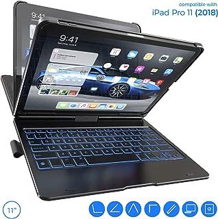 iPad Pro 11 Keyboard Case - Backlit - Wireless - 360° Rotatable - iPad Pro 11 Case with Keyboard - Thin & Light - Slim Folio Cover - Auto Sleep/Wake - 11 inch - 10 Color Backlight (Black)
