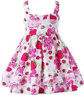 Girls Summer Floral Ruffle Lace Halter Dress Toddler Flutter Party Boho Sundress