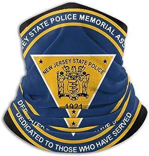 The New Jersey State Police Unisex Windproof Sports Scarf Outdoor Neck Warmer Bandana Balaclava Headwear