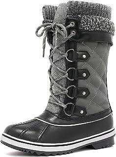 DREAM PAIRS Women`s Mid-Calf Winter Snow Boots