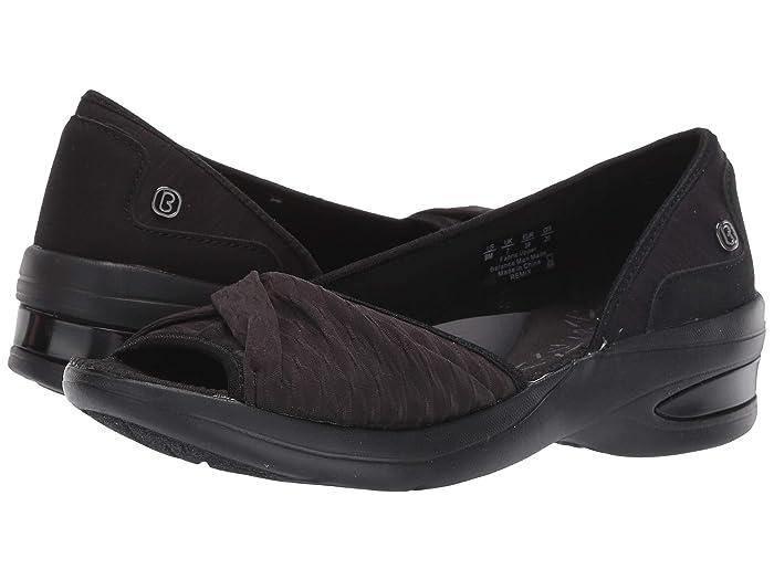 Bzees  Remix (Black Pucker Mesh) Womens Flat Shoes