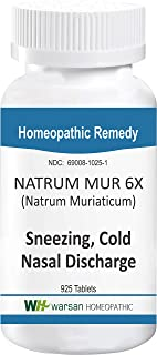 NATRUM MUR 6X - Homeopathic Tissue Salts. 925 Tablets