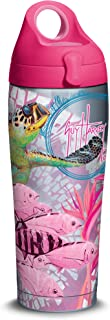 Tervis 1315703 Guy Harvey - Breast Cancer Awareness Turtles Insulated Tumbler with Wrap and Fuchsia Travel Lid, 16 oz - Tr...