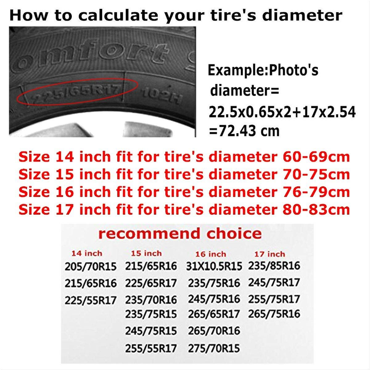 Xhayo Wolf Wheel Cover Wheelcover Spare Tyre Tire for SUV,RV,Trailer,Truck Wheel Fits Entire Wheel