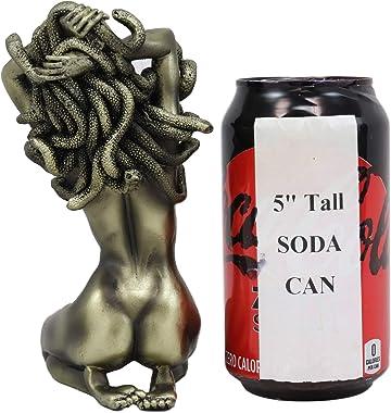 "Ebros Greek Mythology Kneeling Nude Goddess Medusa with Snake Hair Statue 6"" Tall Temptation Seduction of The Demonic Gor"