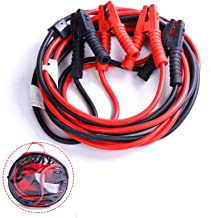 JRS Auto Jumper Cables 1 Gauge 1200AMP 20Ft Heavy Duty Automotive Booster Cables for Car Truck