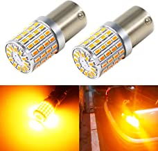 Phinlion BAU15S 7507 LED Turn Signal Light Bulb Extremely Bright 3014 72-SMD PY21W 2641A LED Blinker Lights, Amber Yellow