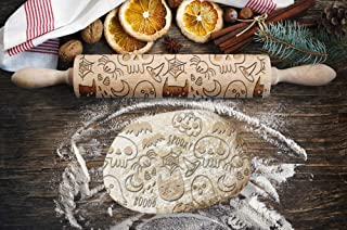 Disguise Pattern, Engraved Rolling pin, for Cakes and Cookies, Kitchen Tool, Original Shape