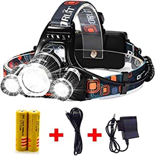 Newest Headlamp Flashlight 10000 Lumen,Best IMPROVED LED with Rechargeable Battery, Bright Head Lights,Waterproof Hard Hat...