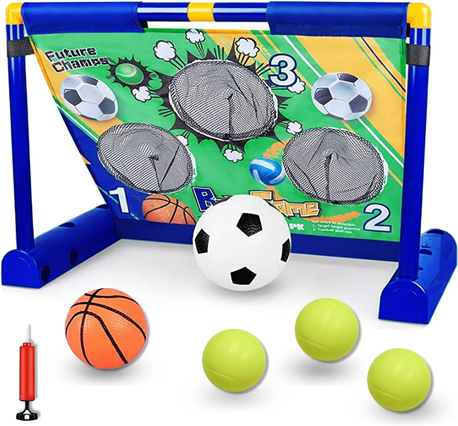 Loyaa Electric Soccer Goal New product type Net Movable Football Portable Limited price Set Ba