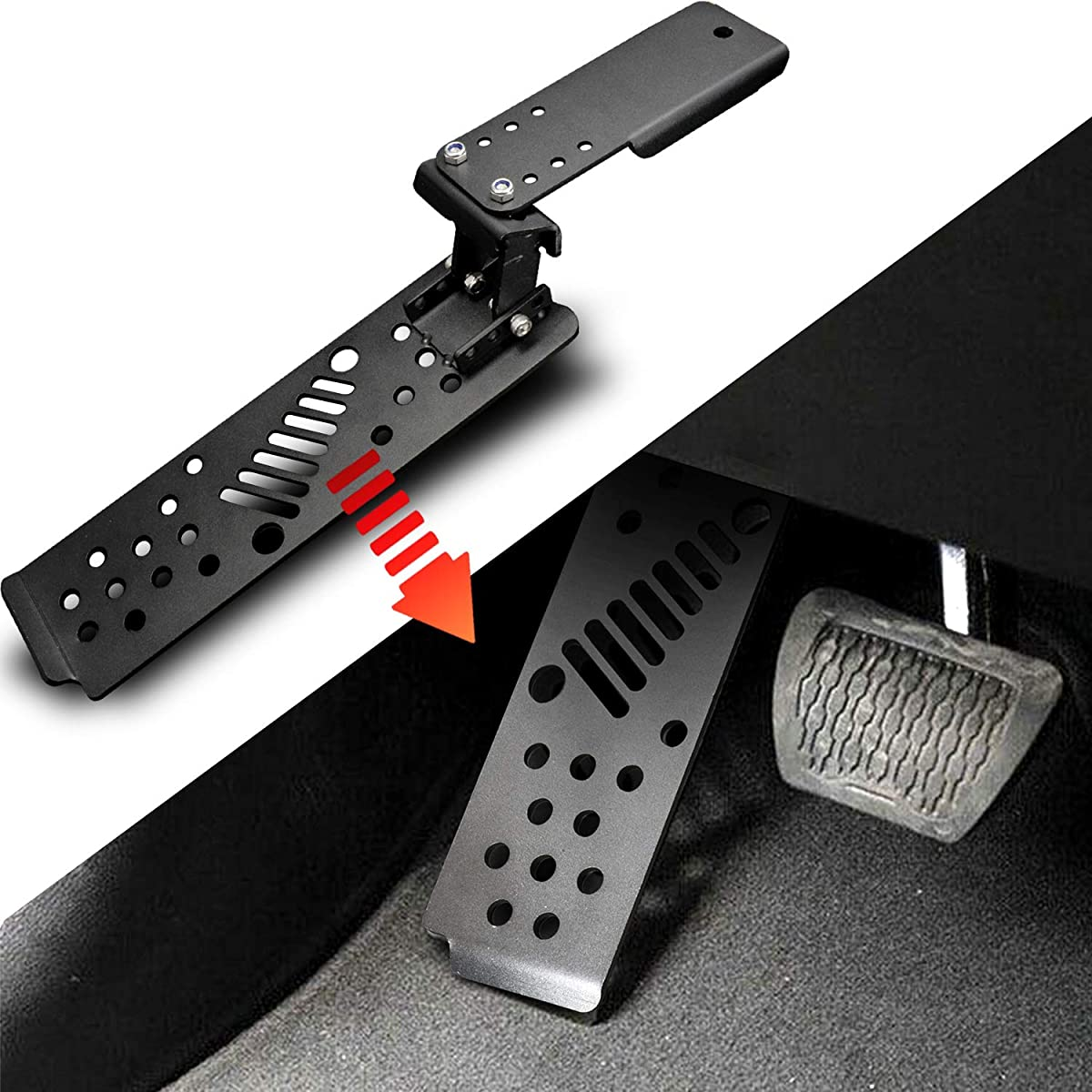 Seven Sparta Left Foot Rest Pedal Aluminium Alloy Foot Pegs Kick Panel for 2018 Jeep Wrangler JL& Unlimited