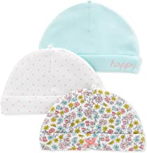 Carter's Baby Girls 3-Pack Floral Print Cotton Hats Cap