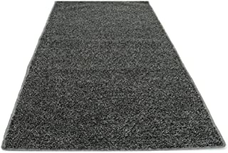 Koeckritz Rugs Custom Sized Indoor/Outdoor Artificial Grass Turf (Color: Grey Black)