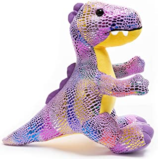 HollyHOME Plush T-Rex Dinosaur Cute Stuffed Animal Toy Kids Gift Purple 10 Inch