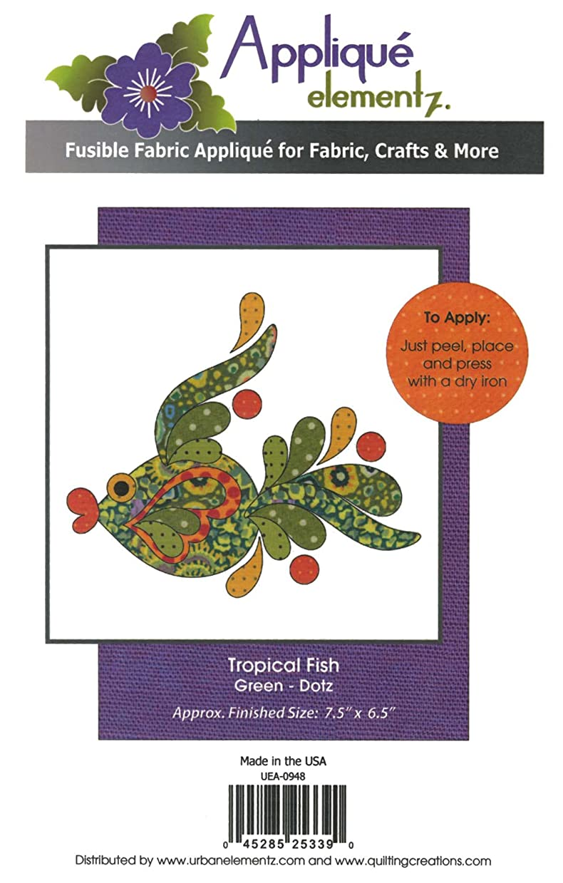 Quilting Creations Tropical Fish Green Fusible Applique