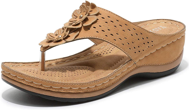 VOMIRA Women's Casual Flip Flops Wedge Sandals Open Toe Outdoor