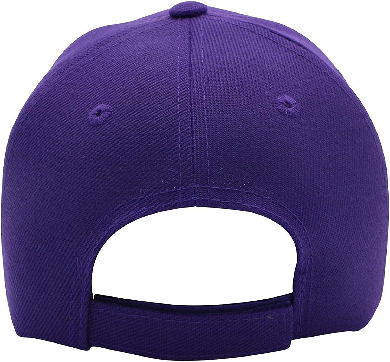 Classic Baseball Hat Custom A to Z Initial Team Letter, Purple Cap White Gold