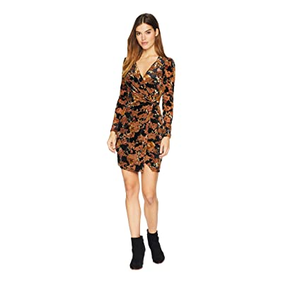 ASTR the Label Lanita Dress (Black/Rust Floral) Women