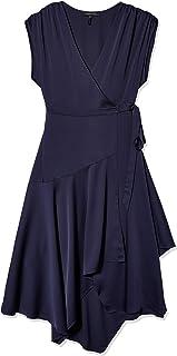 BCBGMAXAZRIA Women's Crepe Satin Wrap Dress