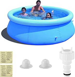 Kacsoo Piscina Hinchable, Piscina Inflable, 240 * 240 * 63 CM Piscina Inflable Familiar, Piscina Infantil Redonda Puede ac...
