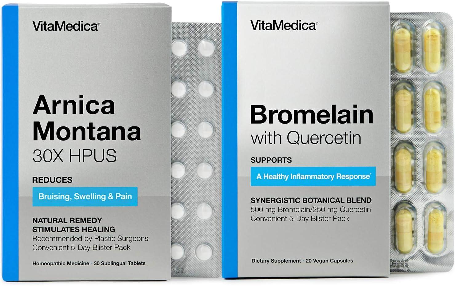 VitaMedica Arnica + Max 71% OFF Bromelain Jacksonville Mall Blister Pack Convenient 5- Bundle