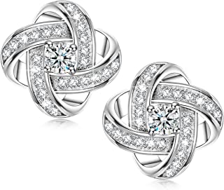 Alex Perry Satellite Series 925 Sterling Silver Women's Stud Earrings with 5A Cubic Zirconia, Gold Plated, Christmas presents, Allergen Free, Nickel Free, Passed SGS Test