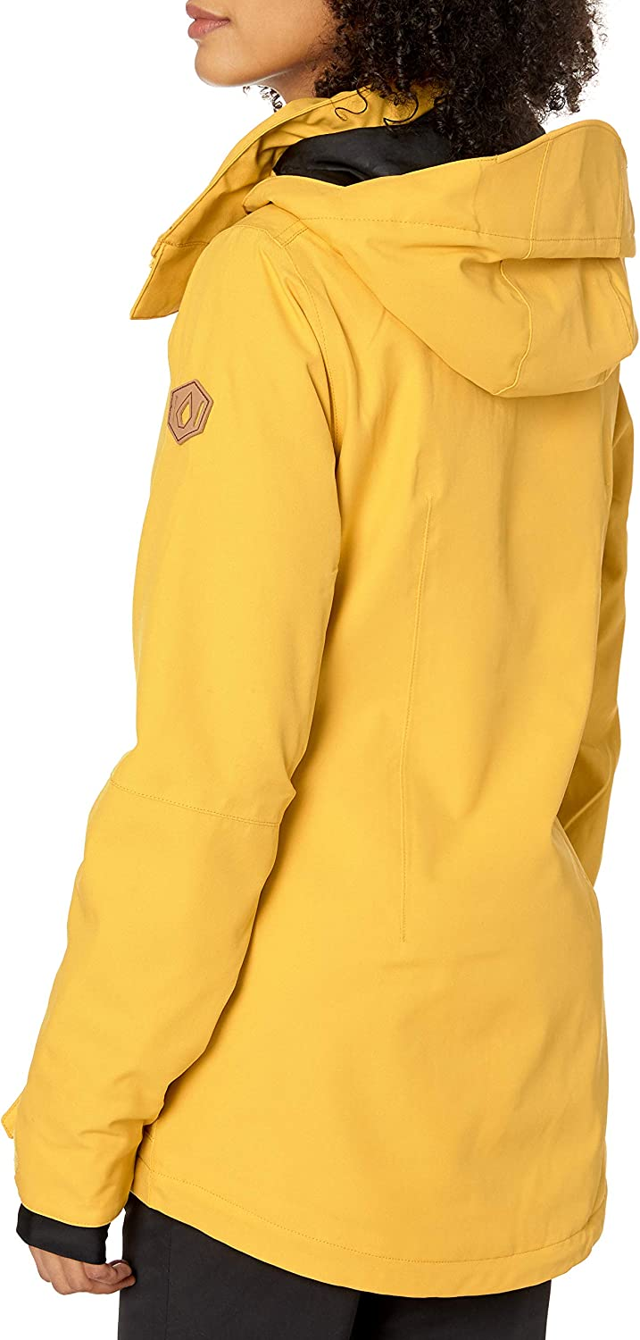 Volcom Womens Shelter 3D Stretch Insulated Snowboard Ski Winter Hooded Jacket