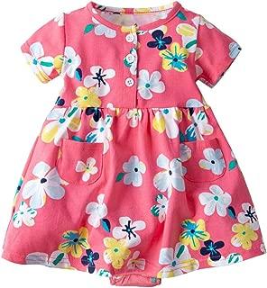 Fandecie Neonata Bambine Manica Lunga Vestito Abito Principessa Dress di Cotone 0-4 Anni