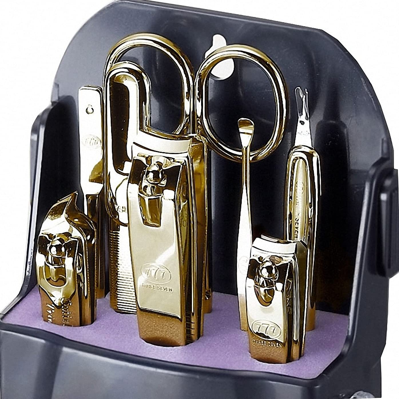 世界に死んだ万歳雰囲気【 三セブン】THREE SEVEN TS-090 Manicure Set 三セブンTS 090マニキュア セット (2.Gold) [並行輸入品]