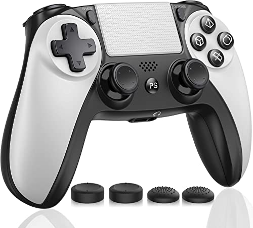 Kydlan Controller for PS4, Wireless Controller for PS4 Gaming Remote, Modded Gamepad Compatible with Touch Panel/Audi...