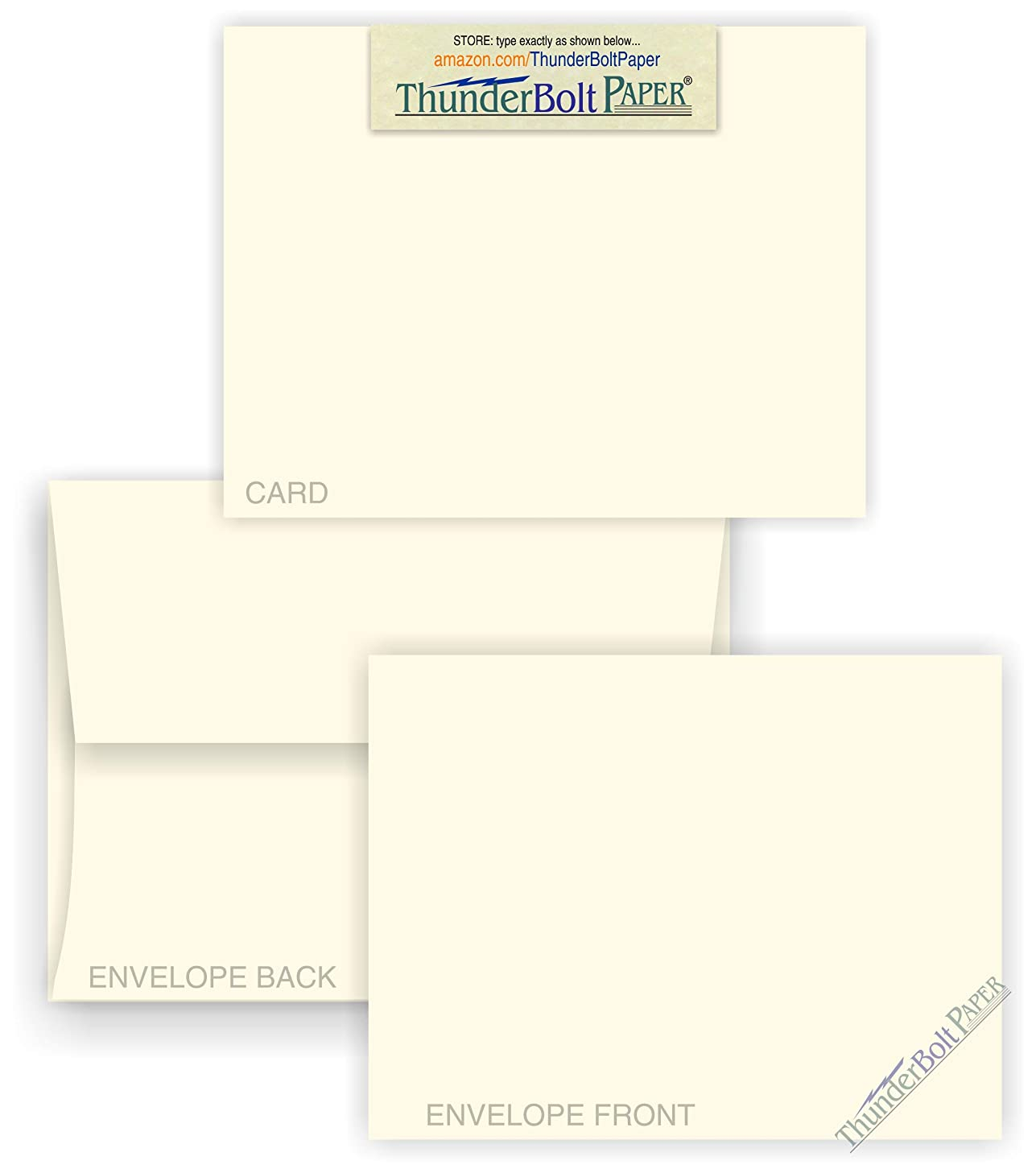 5X7 Blank Cards with A-7 Envelopes - Smooth Natural White - 15 Sets - Silky Finish - Invitations, Greeting, Thank Yous, Notes, Holidays, Weddings, Birthdays, Announcements - 80# Cardstock