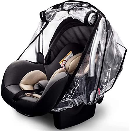 Car Seat Rain Cover,Food Grade EVA,Universal Car Seat Rain,Waterproof, Windproof Protection,Protect from Dust Snow,Rain Cover Features Quick-Access Zipper Door and Side Ventilation