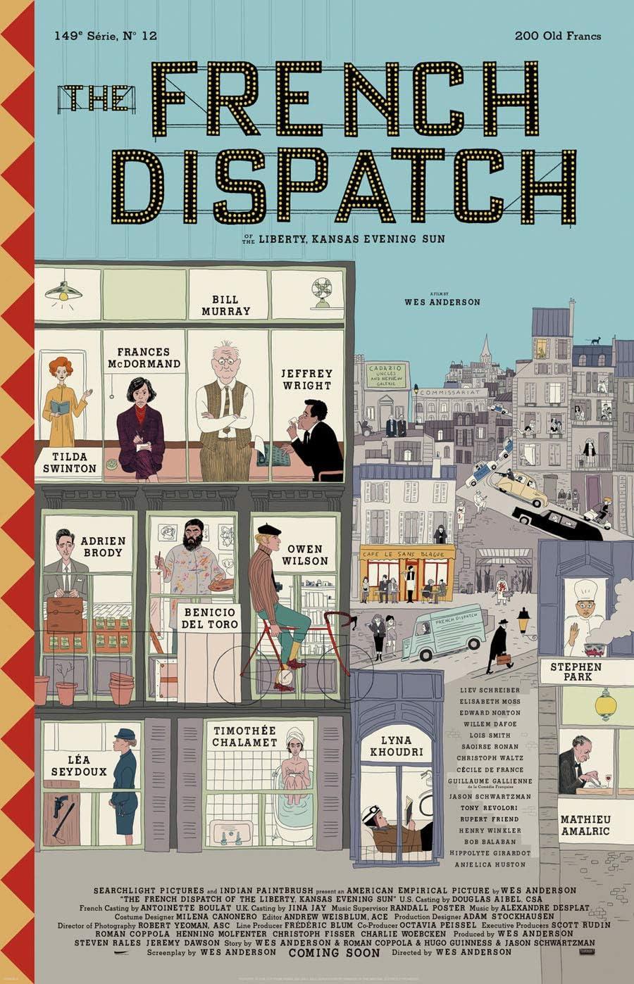 Amazon.com: Póster de la película The French Dispatch