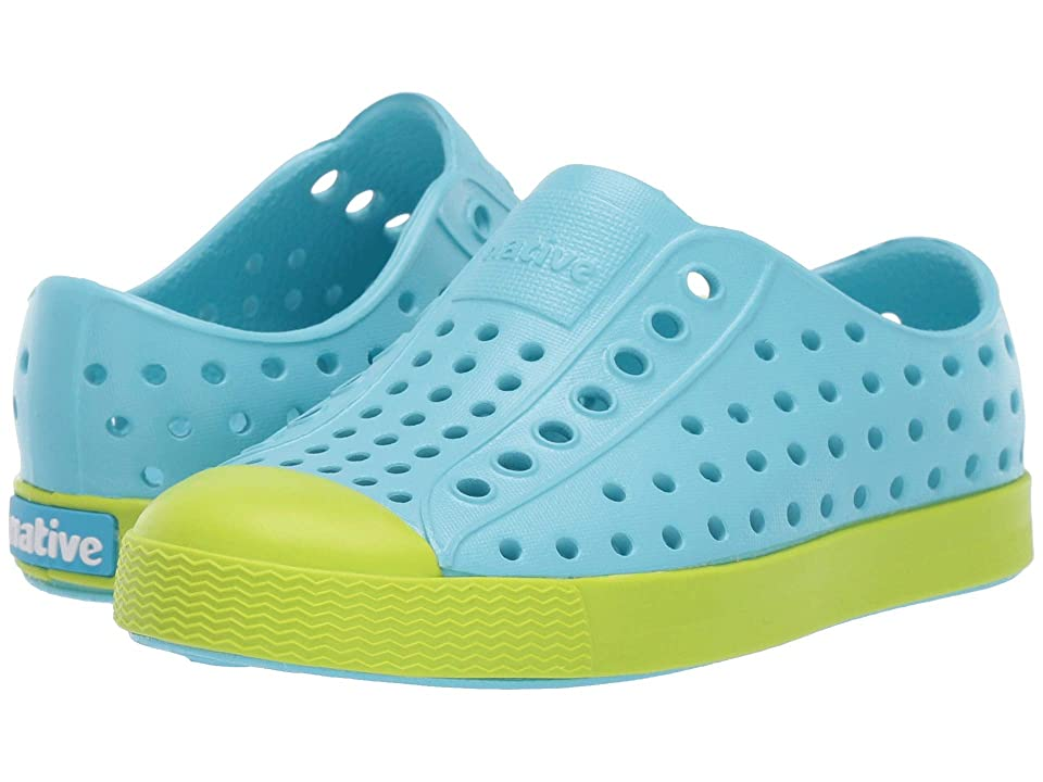 Native Kids Shoes Jefferson (Toddler/Little Kid) (Hamachi Blue/Glo Green) Kids Shoes