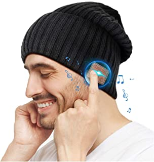 EverPlus Bluetooth Beanie Hat, Gifts for Men, Women with Wireless Bluetooth 5.0, Winter Hat Built-in Detachable HD Stereo ...