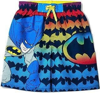 XSmall Black Dreamwear Boys Batman Swim Trunks