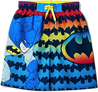 Batman Character in The Night with Symbol Youth Swim Trunks