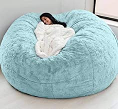 Dropshipping Fur Giant Removable Washable Bean Bag Bed Cover Living Room Furniture Lazy Sofa Coat