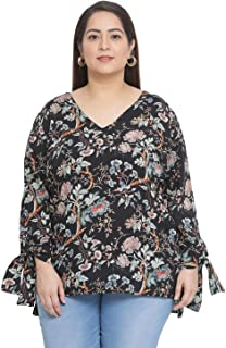 oxolloxo Women's Plus Size Floral Top