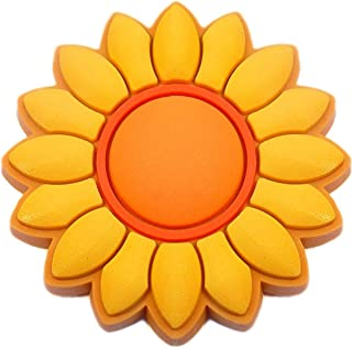 Sunflower Rubber Charm for Wristbands and Shoes