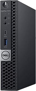 Dell Optiplex 7070 Home and Business Desktop Black (Intel i5-9600T 6-Core, 8GB RAM, 256GB m. 2 SATA SSD + 500GB HDD (2.5), Intel UHD 630, واي فاي, بلوتوث, 5xUSB 3.1, 2 منفذ عرض (DP), ويندوز 10 برو)