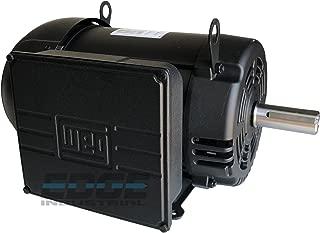 NEW WEG INDUSTRIAL GRADE 7.5HP COMPRESSOR DUTY MOTOR, 230V, 1760RPM, 215T/213T FRAME, 1 3/8 SHAFT DIAMETER, 31.3 FLA