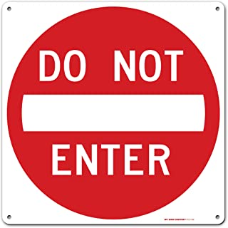 """Caution Do Not Enter Sign, 11"""" x 11"""" Industrial Grade Aluminum, Easy Mounting, Rust-Free/Fade Resistance, Indoor/Outdoor, ..."""