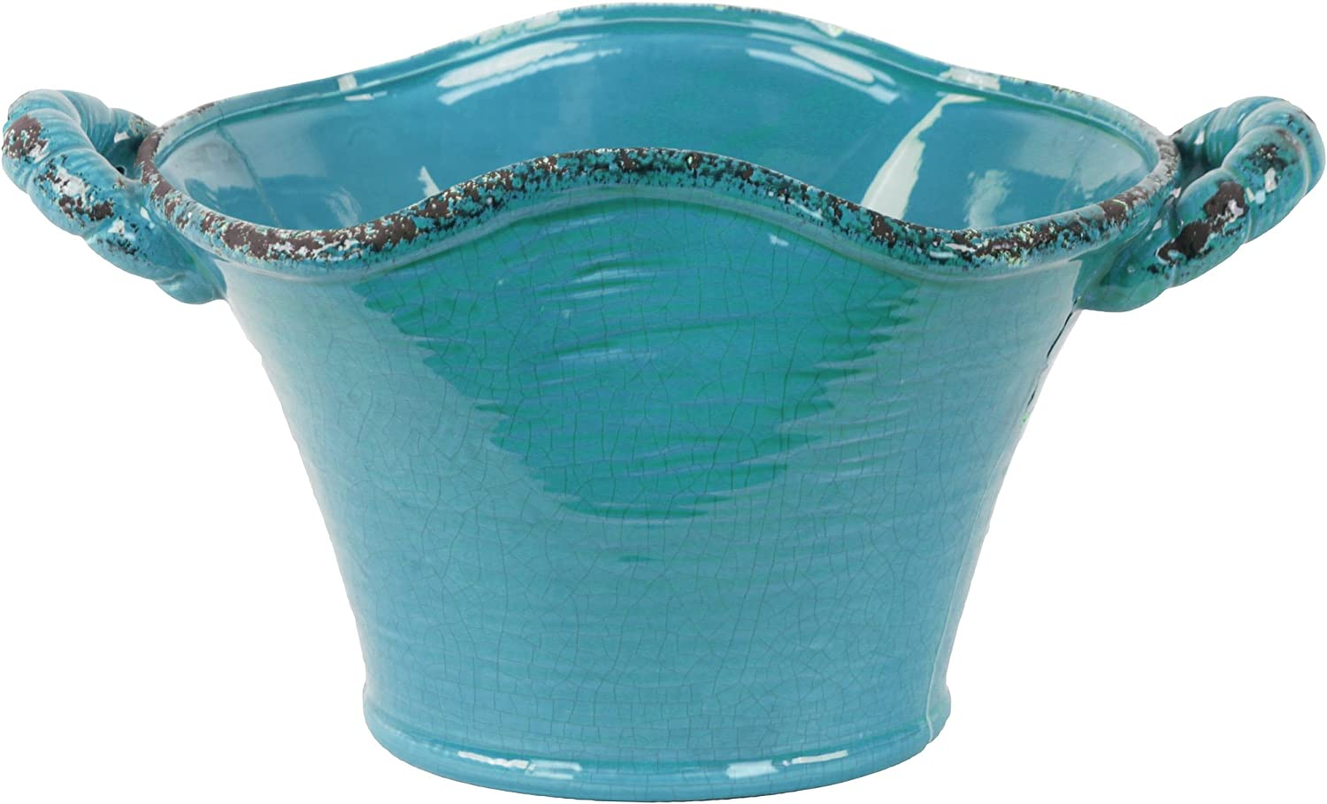 Urban Trends 31824 Ceramic Stadium OFFicial site Shaped wit Tapered Pot Tuscan Las Vegas Mall