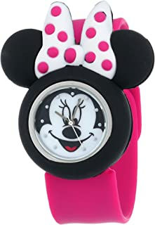 Minnie Mouse Kids Analog Watch with Minnie Mouse Shape Case, Pink Strap - Official