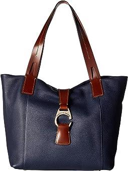0ad53b39d0d0 Dkny bryant park saffiano leather ew zip tote blue