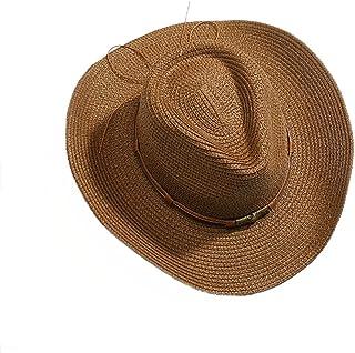 LONGren Western Cowboy Straw Hat, Summer Men's Outdoor Fishing Cap  Sun Protection UV Protection Beach Holiday Cap Sun Ha...