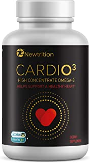 CARDIO3 by Newtrition Once a Day Omega-3 Fish Oil Supplement Burp-Less 1200mg 500mg of High Concentrate EPA & DHA, 3X Faster Absorption, (30 ct.)