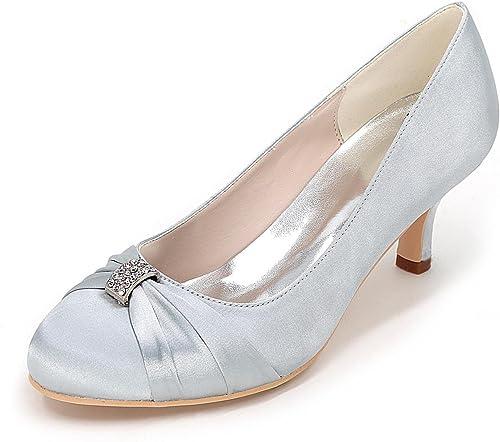 L@YC zapatos de tacón Alto para mujer zapatos de Boda cómodo Fino con el Partido de Raso Color de la Boda Color de código